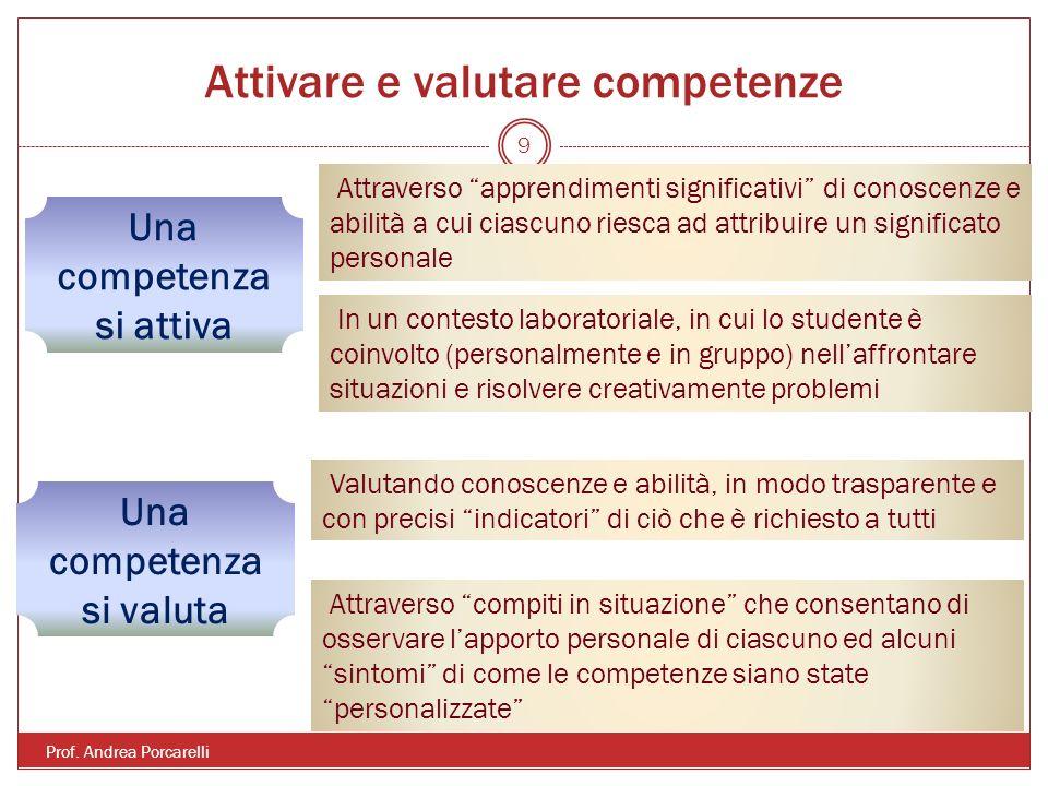 Attivare e valutare competenze