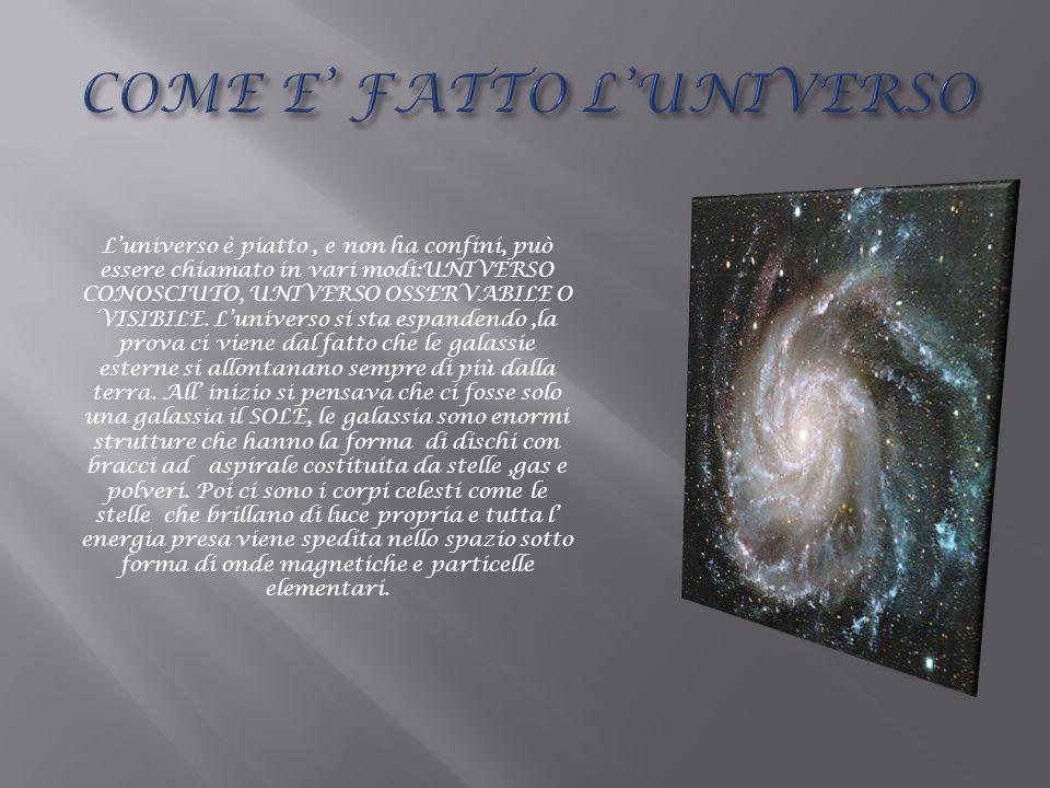 COME E' FATTO L'UNIVERSO
