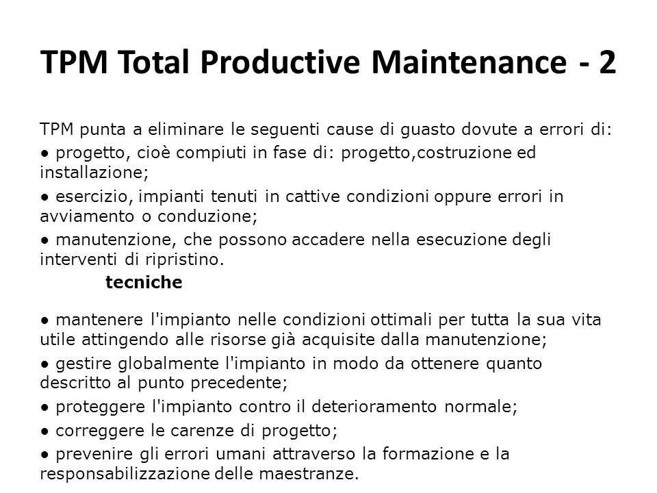 TPM Total Productive Maintenance - 2