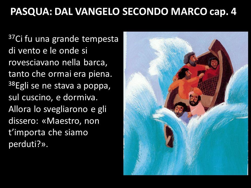 PASQUA: DAL VANGELO SECONDO MARCO cap. 4