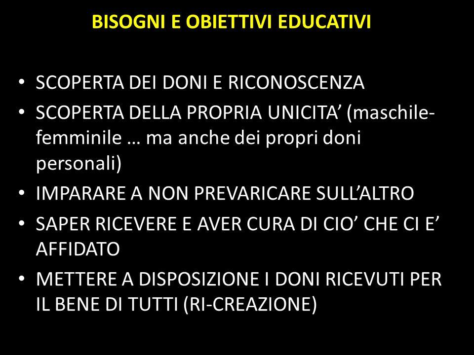 BISOGNI E OBIETTIVI EDUCATIVI