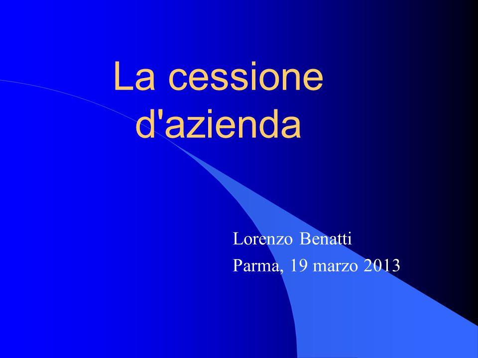 Lorenzo Benatti Parma, 19 marzo 2013