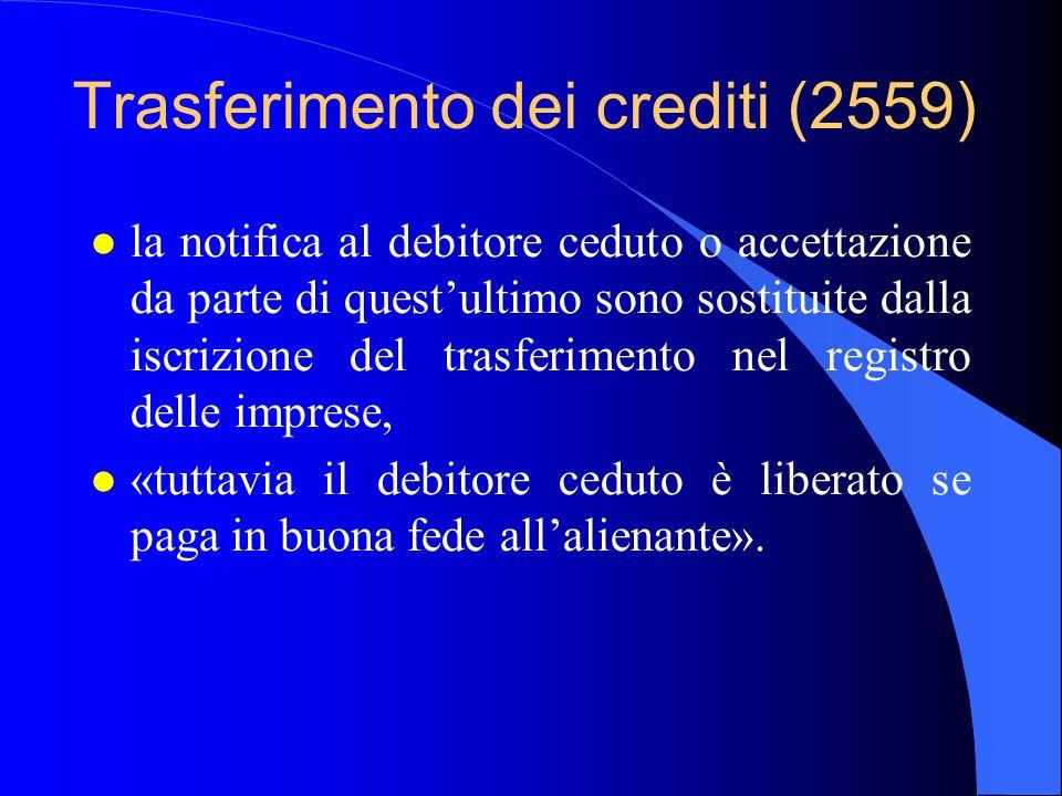 Trasferimento dei crediti (2559)