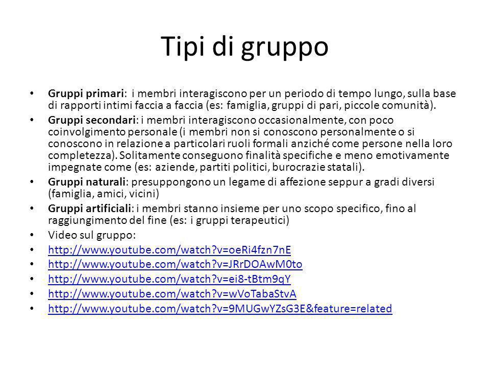Tipi di gruppo