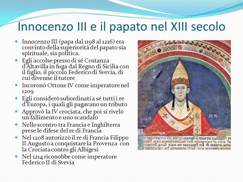 Innocenzo III e il papato nel XIII secolo