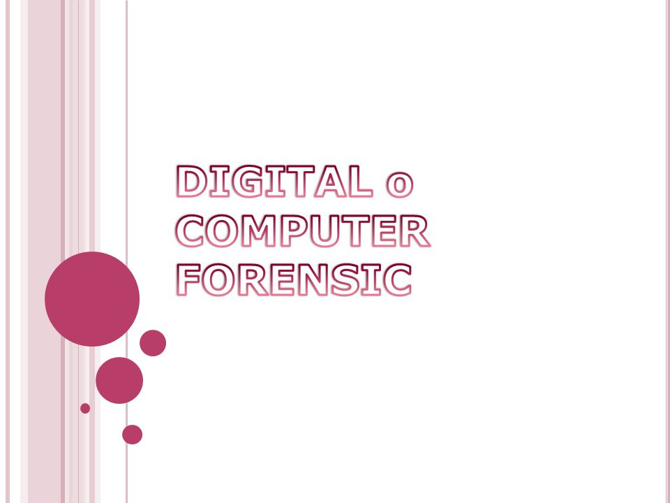 DIGITAL o COMPUTER FORENSIC