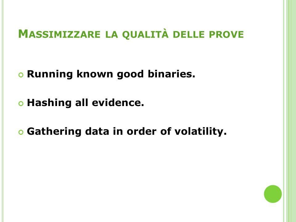 Massimizzare la qualità delle prove
