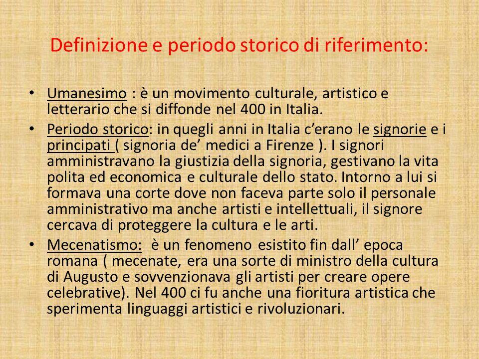 Definizione e periodo storico di riferimento: