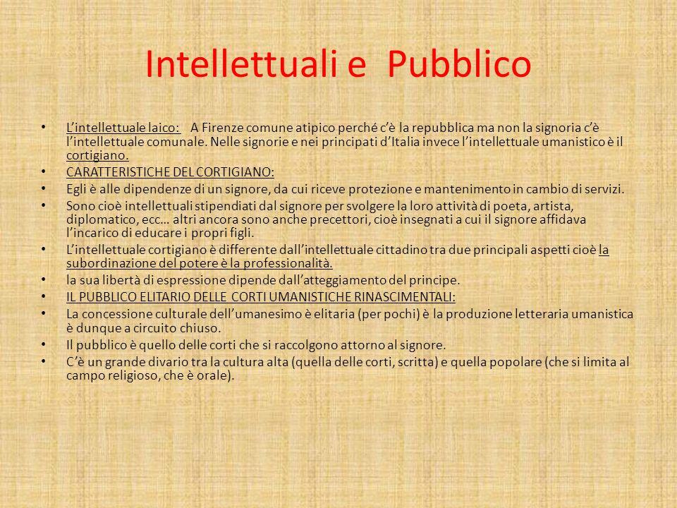 Intellettuali e Pubblico