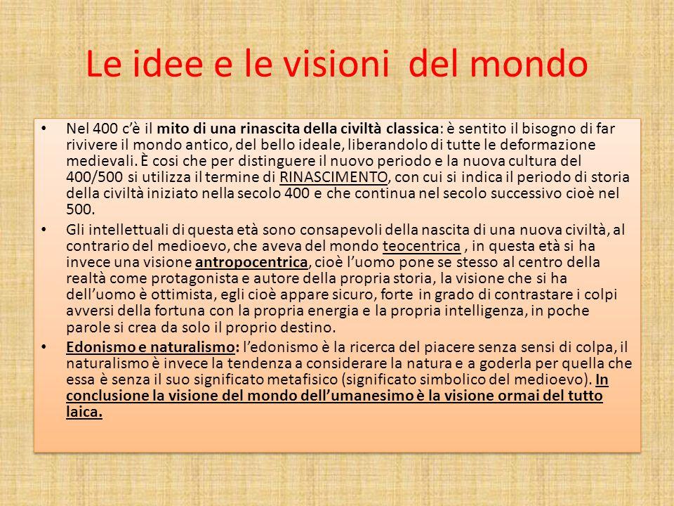 Le idee e le visioni del mondo