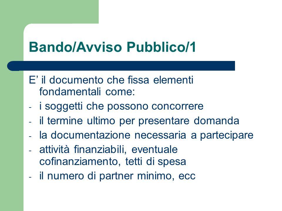 Bando/Avviso Pubblico/1