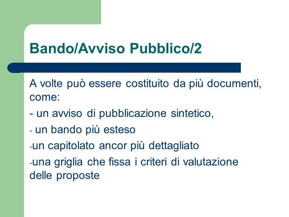 Bando/Avviso Pubblico/2