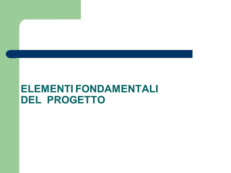 ELEMENTI FONDAMENTALI DEL PROGETTO