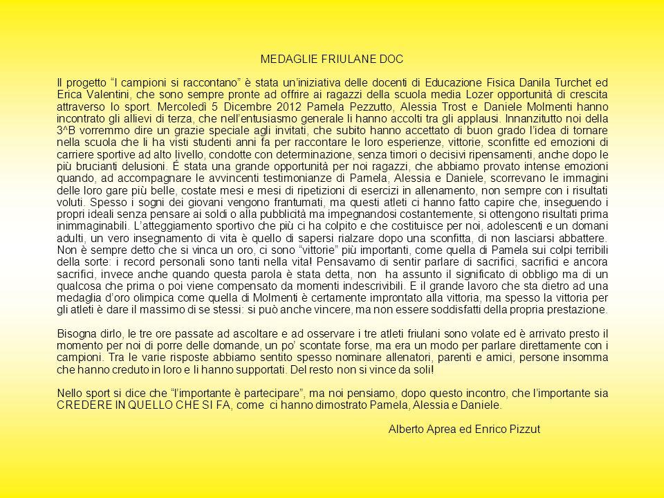 MEDAGLIE FRIULANE DOC