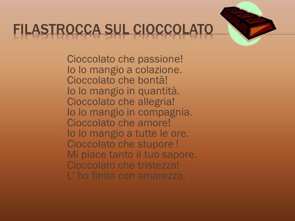 Filastrocca sul cioccolato