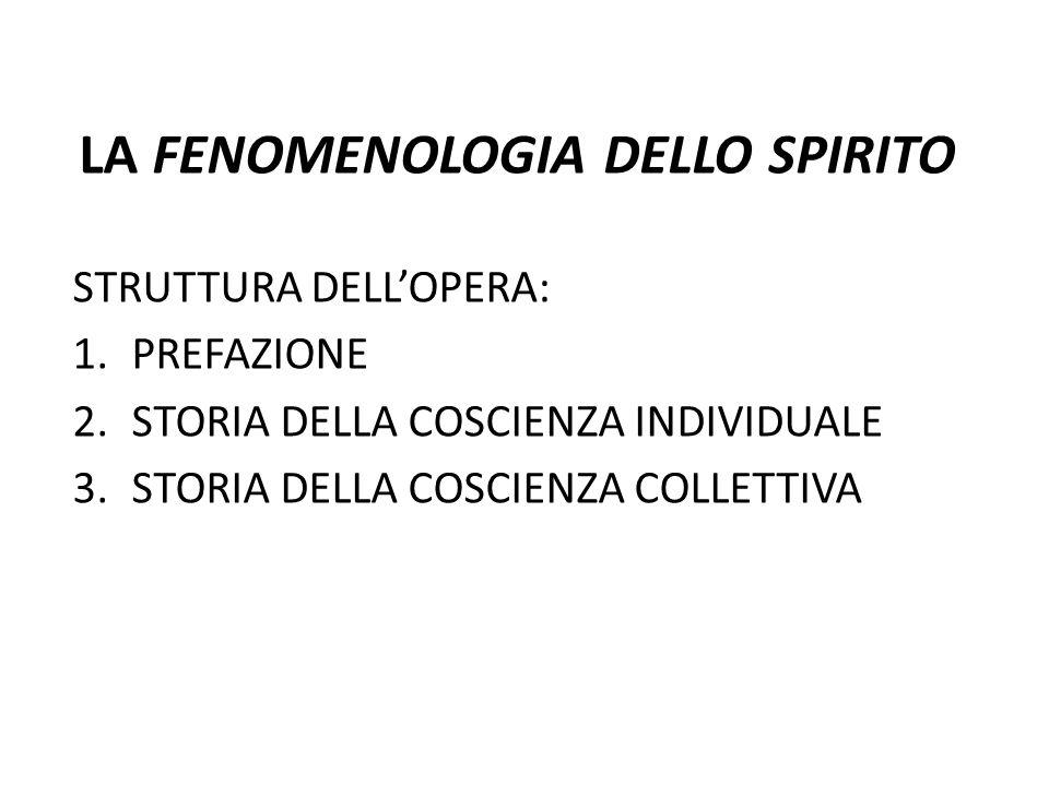 LA FENOMENOLOGIA DELLO SPIRITO