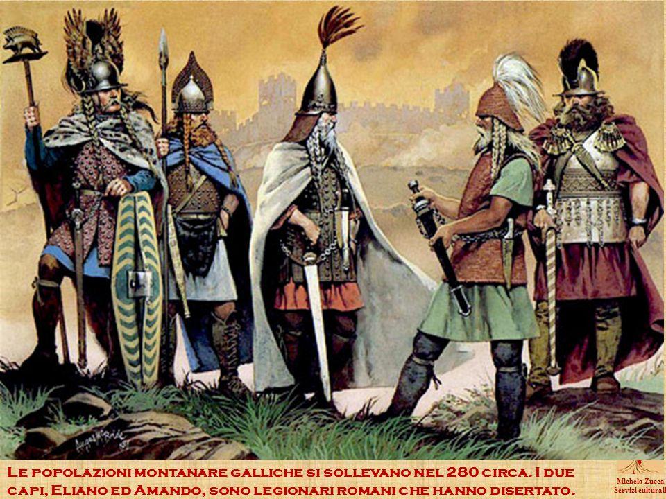 Le popolazioni montanare galliche si sollevano nel 280 circa