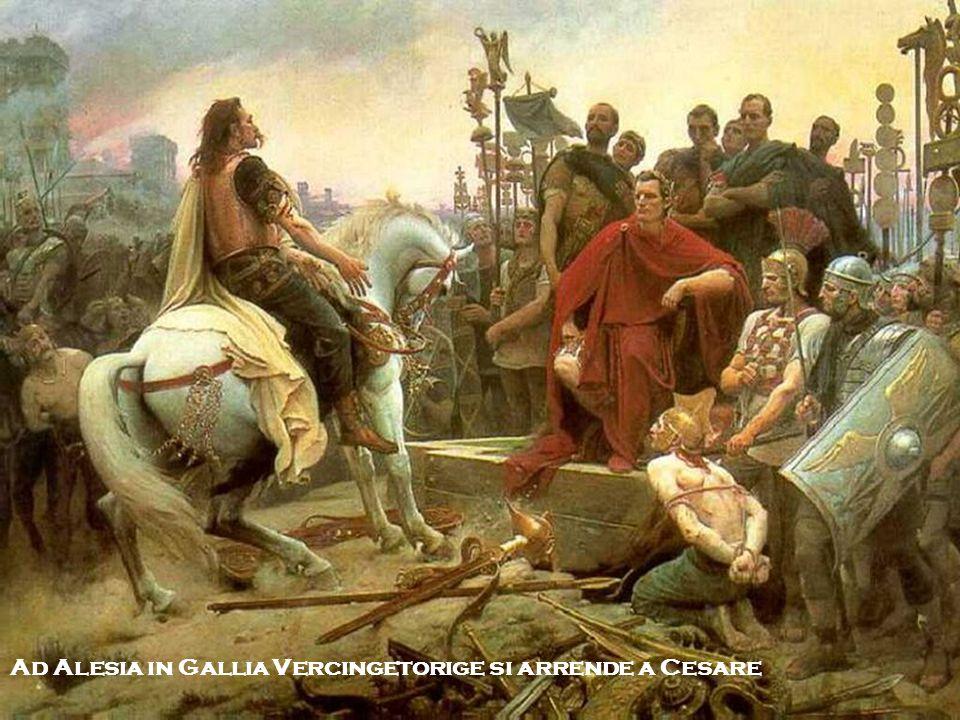 Ad Alesia in Gallia Vercingetorige si arrende a Cesare