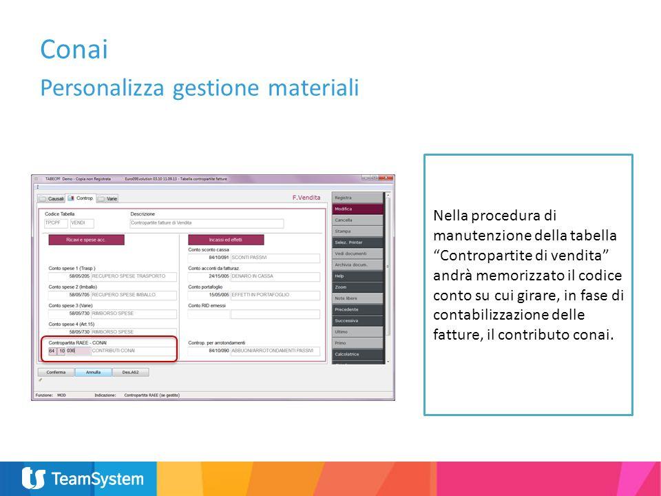 Conai Personalizza gestione materiali