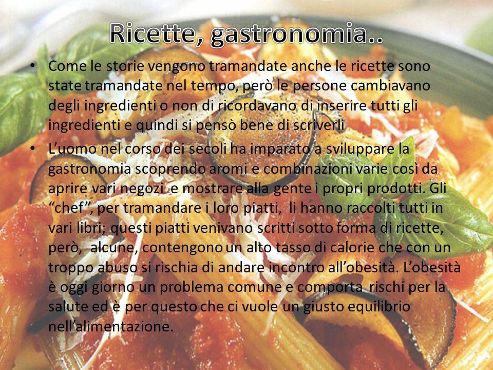 Ricette, gastronomia..