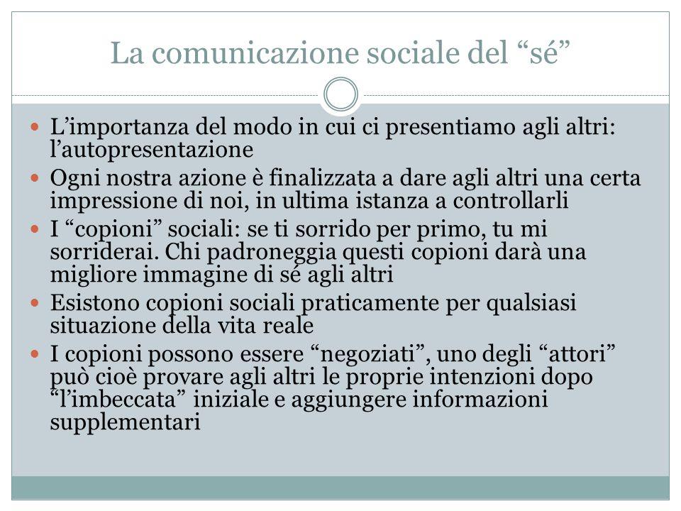 La comunicazione sociale del sé