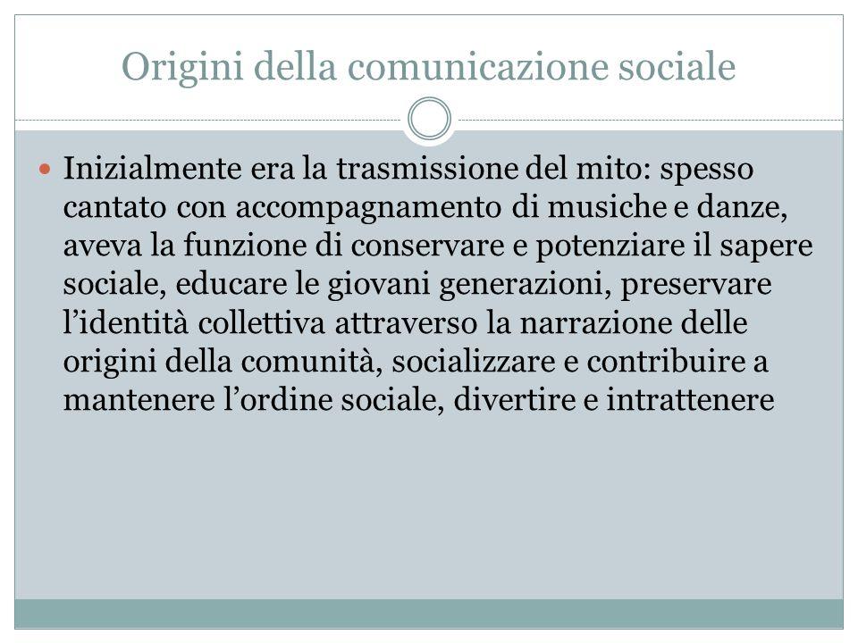 Origini della comunicazione sociale