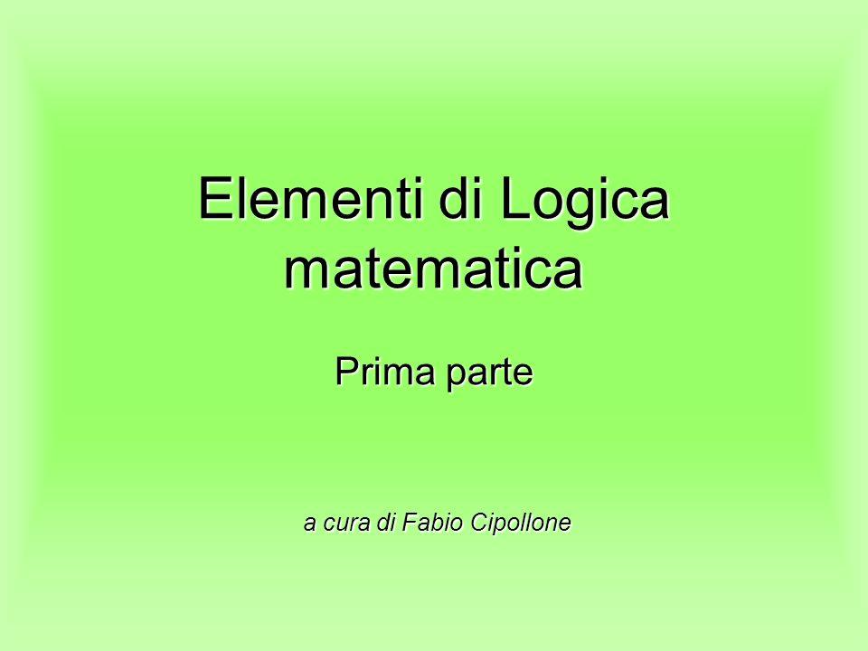 Elementi di Logica matematica Prima parte