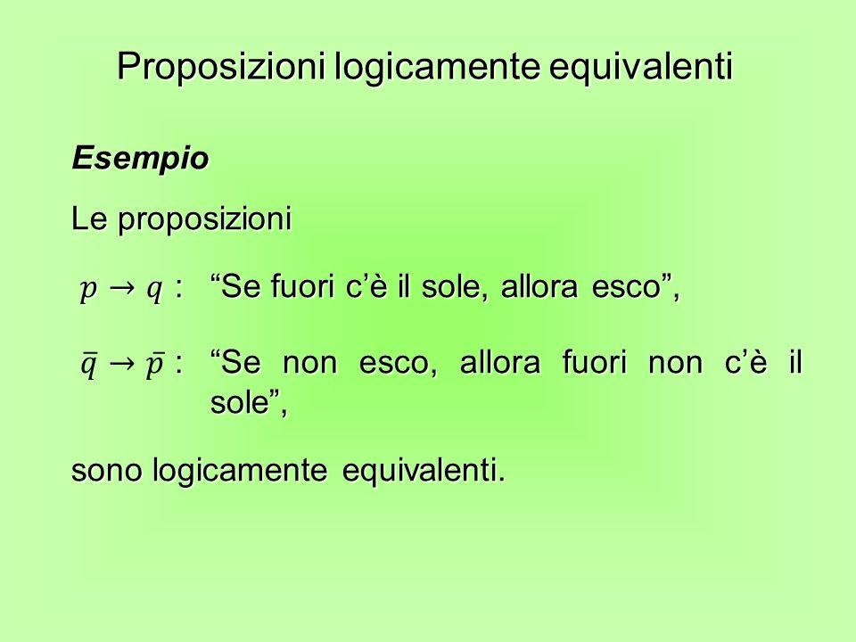 Proposizioni logicamente equivalenti