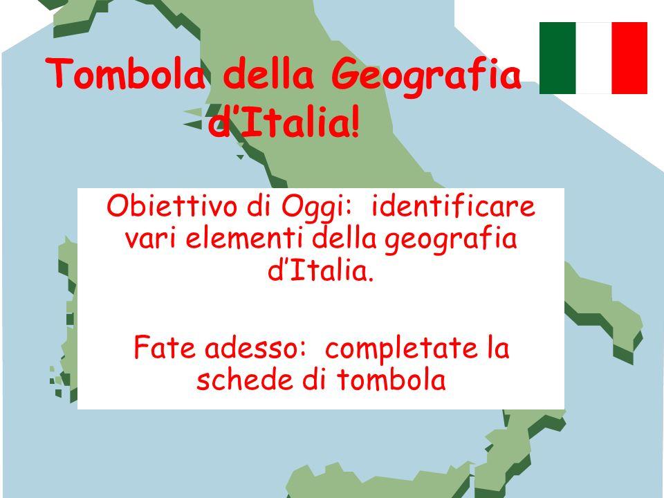 Tombola della Geografia d'Italia!
