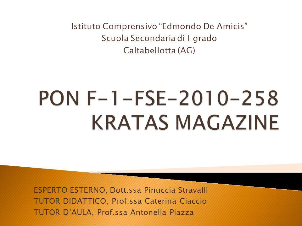 PON F-1-FSE-2010-258 KRATAS MAGAZINE