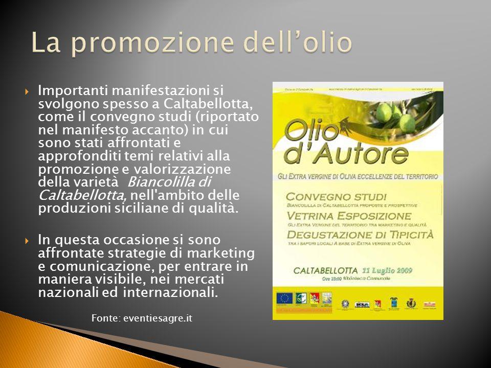 La promozione dell'olio