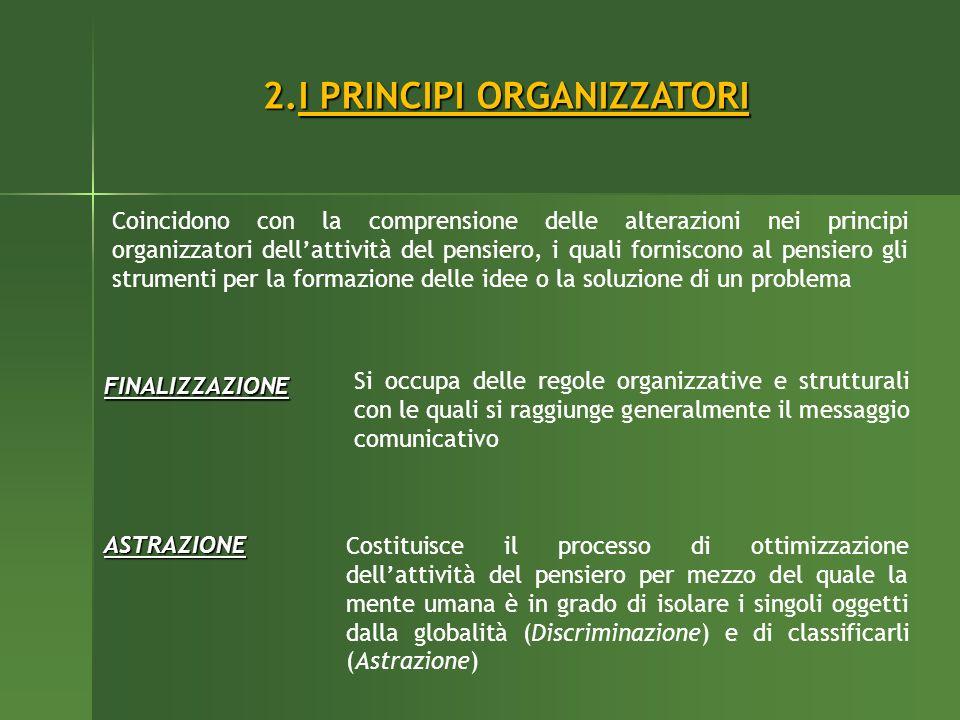 I PRINCIPI ORGANIZZATORI