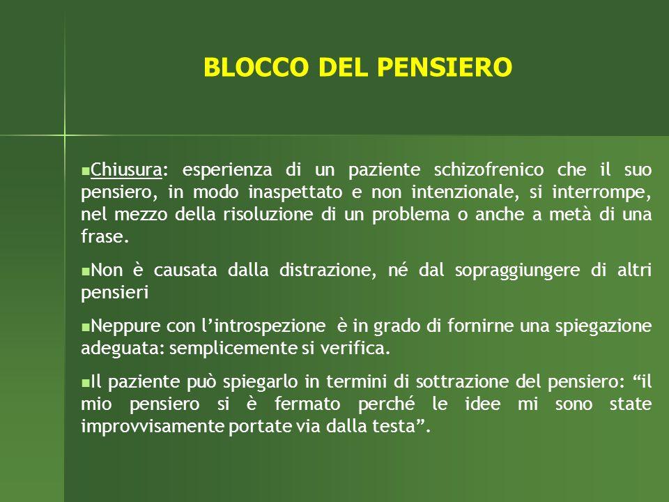 BLOCCO DEL PENSIERO