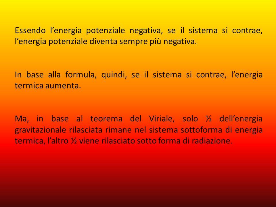 Essendo l'energia potenziale negativa, se il sistema si contrae, l'energia potenziale diventa sempre più negativa.