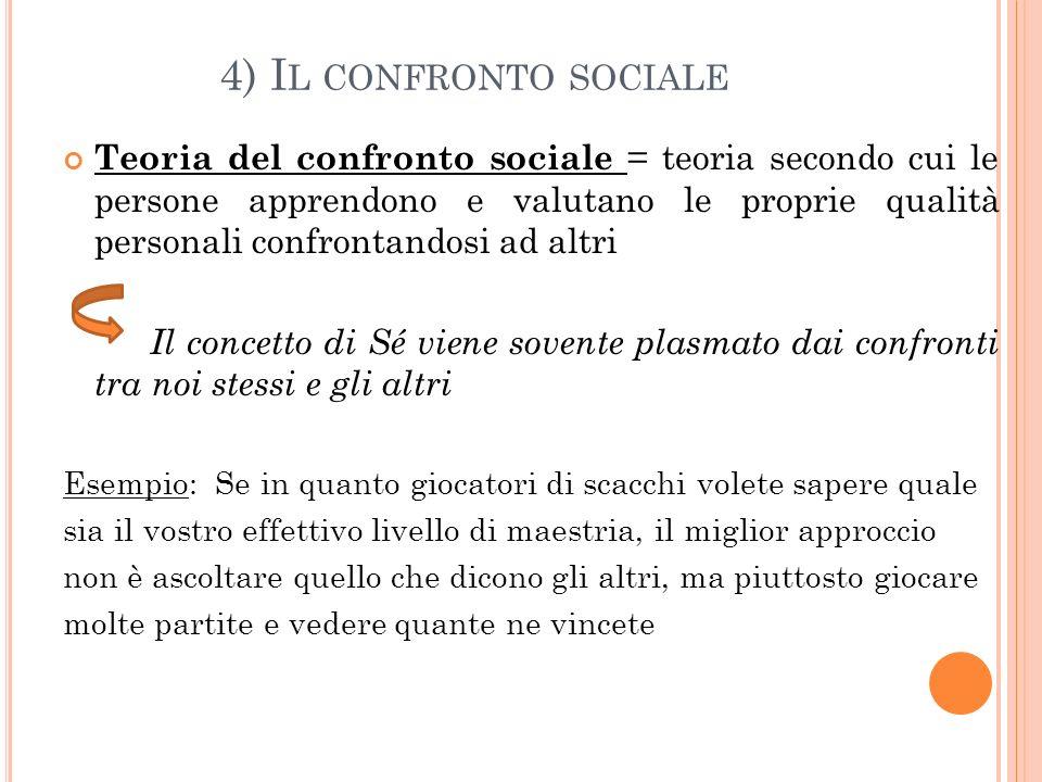 4) Il confronto sociale