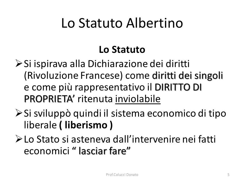 Lo Statuto Albertino Lo Statuto