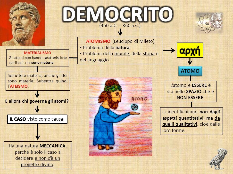 DEMOCRITO αρχή ATOMO (460 a.C. – 360 a.C.)