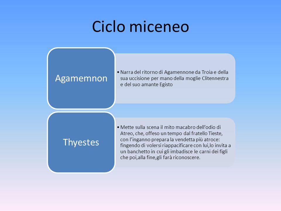 Ciclo miceneo Agamemnon