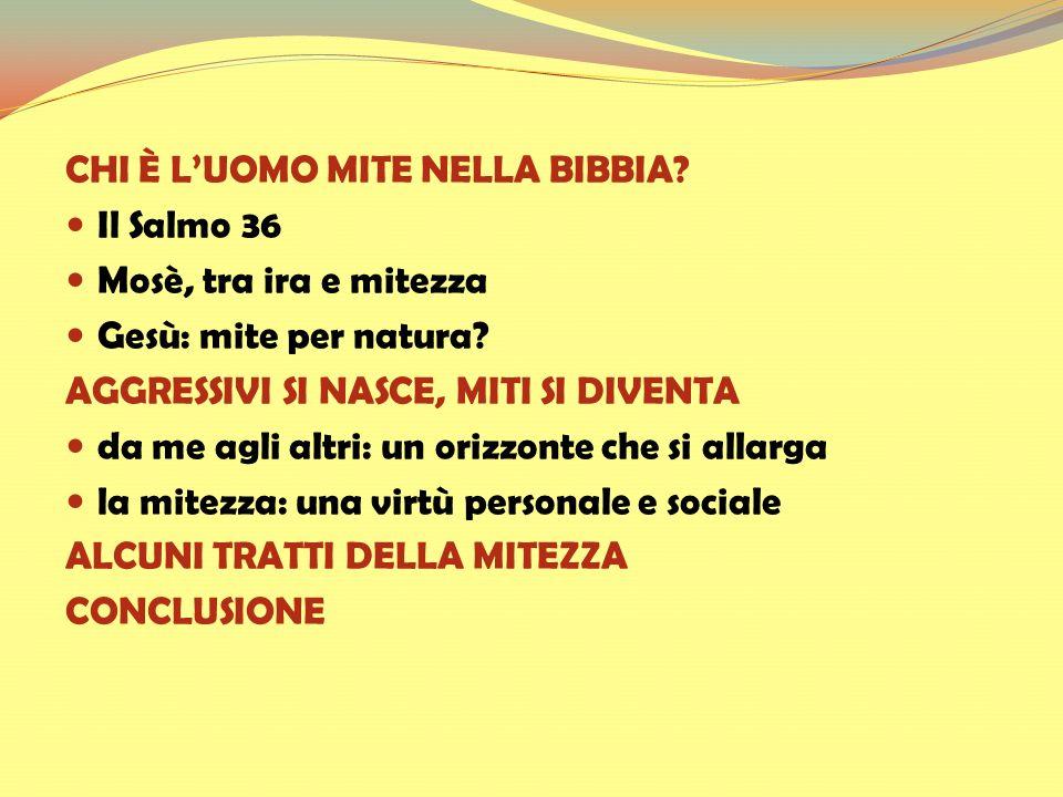 CHI È L'UOMO MITE NELLA BIBBIA