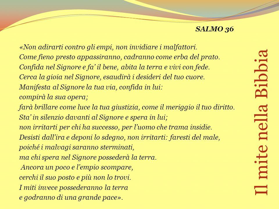 Il mite nella Bibbia SALMO 36