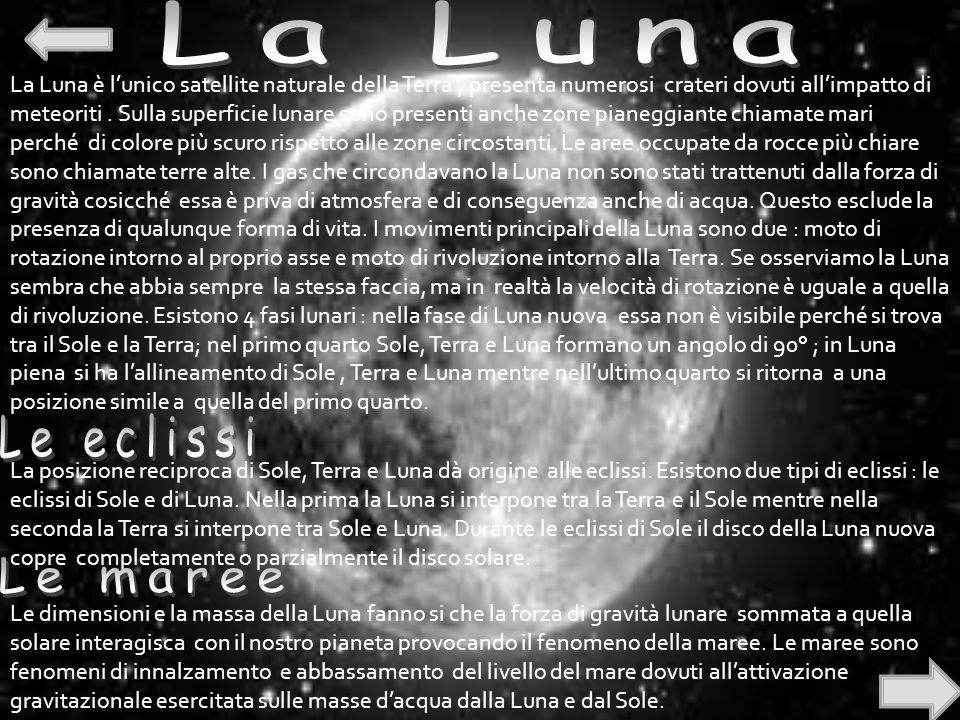 La Luna Le eclissi Le maree