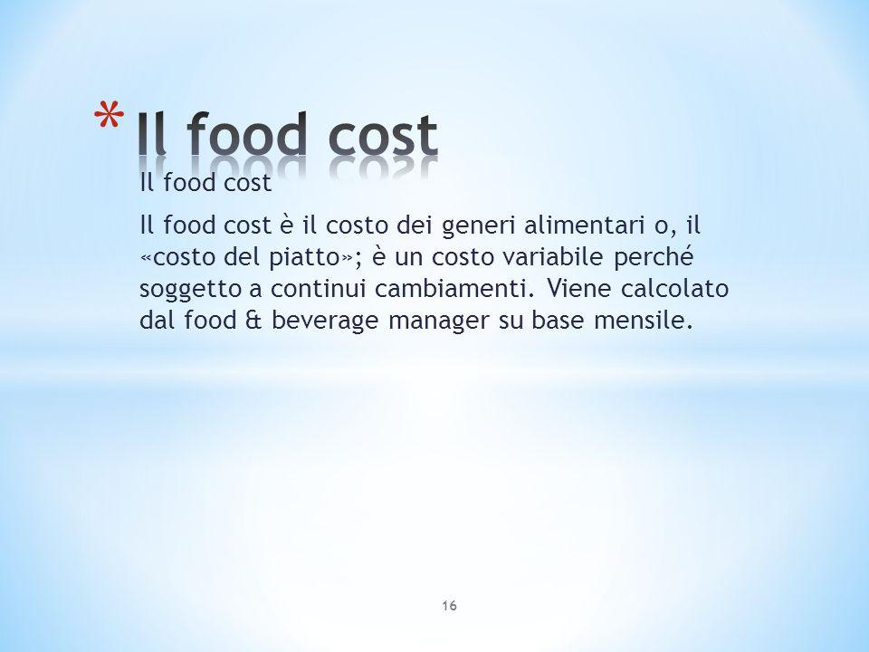 Il food cost Il food cost
