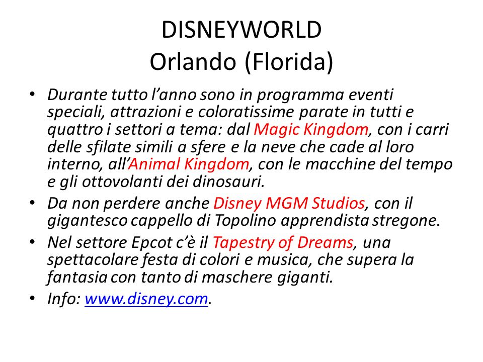 DISNEYWORLD Orlando (Florida)