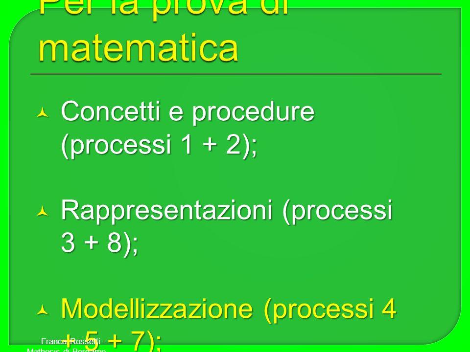 Per la prova di matematica
