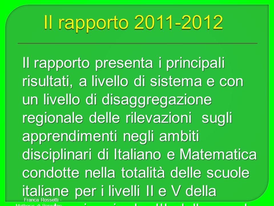 Il rapporto 2011-2012
