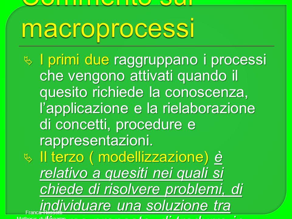 Commento sui macroprocessi