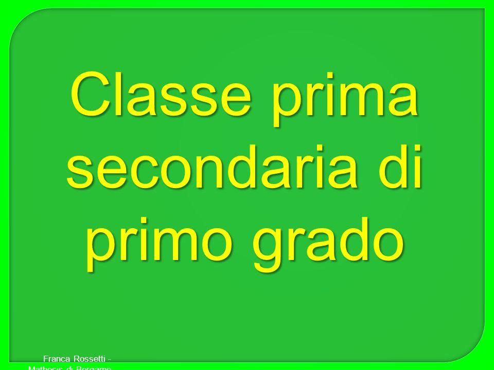 Classe prima secondaria di primo grado