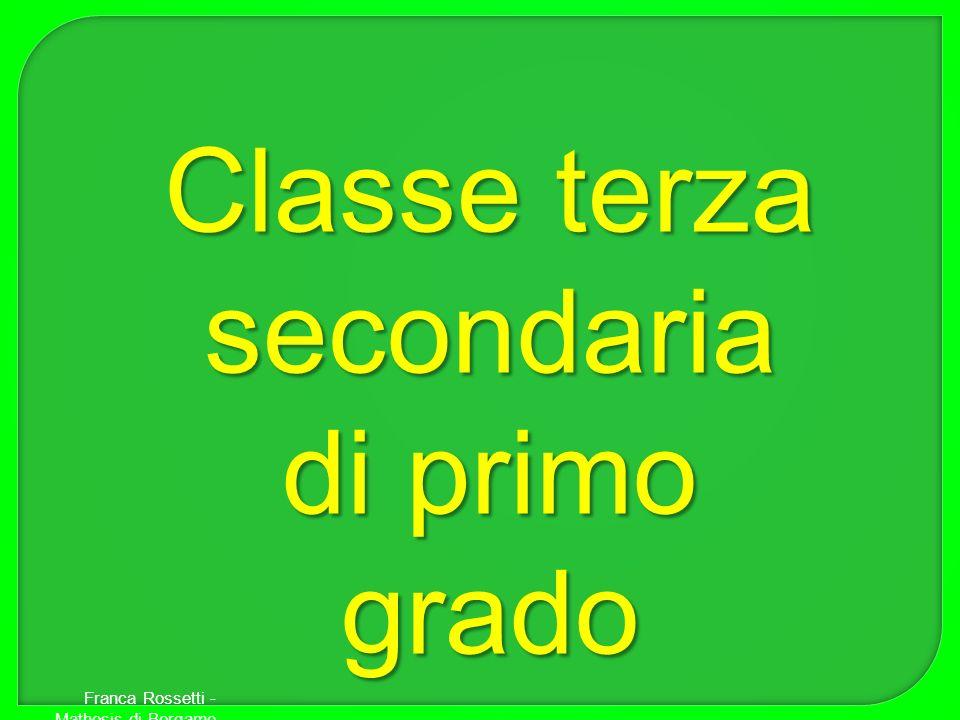 Classe terza secondaria di primo grado