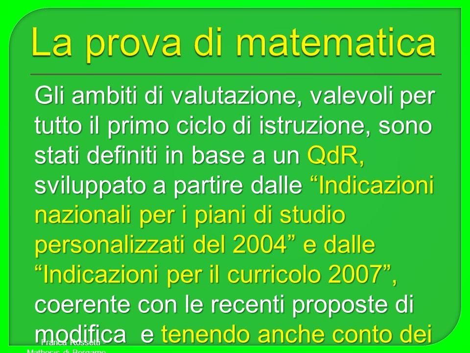 La prova di matematica