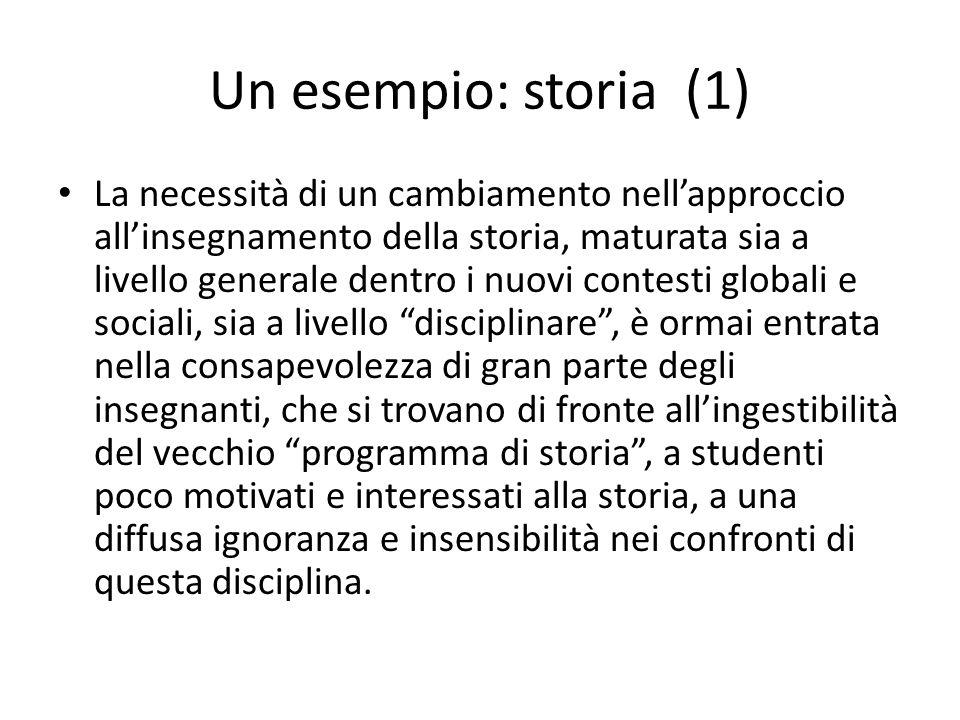 Un esempio: storia (1)